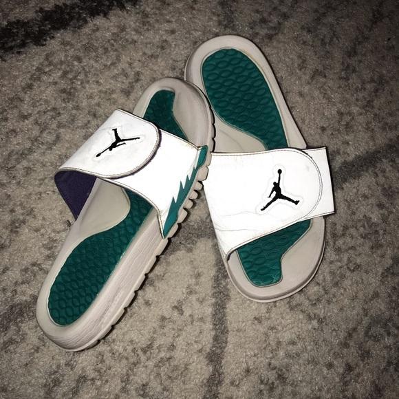 9486268825238c Jordan Shoes - Aqua Jordan slides
